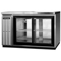 Continental Refrigerator BBC50S-SS-GD-PT 50 inch Stainless Steel Shallow Depth Pass-Through Glass Door Back Bar Refrigerator
