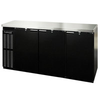Continental Refrigerator BBC79-PT 79 inch Black Pass-Through Solid Door Back Bar Refrigerator