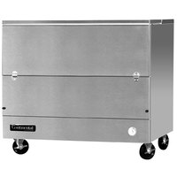 Continental Refrigerator MC4-SS-SCW 49 inch Stainless Steel 1 Sided Cold Wall Milk Cooler - 20 cu. ft.