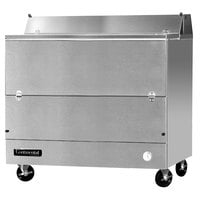 Continental Refrigerator MC4-SS-S 49 inch Stainless Steel 1 Sided Forced Air Milk Cooler