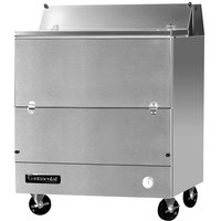Continental Refrigerator MC3-SS-S 34 inch Stainless Steel 1 Sided Forced Air Milk Cooler