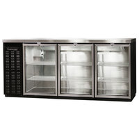 Continental Refrigerator BBC79-GD-PT 79 inch Black Pass-Through Glass Door Back Bar Refrigerator