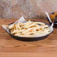 GET RB-890 10 1/2 inch Black Round Plastic Fast Food Basket - 12/Pack