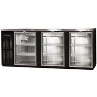 Continental Refrigerator BBC90S-GD-PT 90 inch Black Shallow Depth Pass-Through Glass Door Back Bar Refrigerator