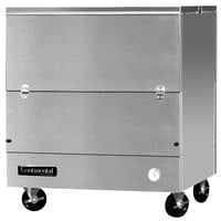 Continental Refrigerator MC3-SS-DCW 34 inch Stainless Steel 2 Sided Cold Wall Milk Cooler