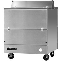 Continental Refrigerator MC3-SS-D 34 inch Stainless Steel 2 Sided Forced Air Milk Cooler
