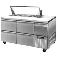 Continental Refrigerator CRA68-12-D 68 inch 4 Drawer 1 Half Door Refrigerated Sandwich Prep Table