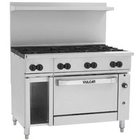 Vulcan 48C-8BP Endurance Liquid Propane 8 Burner 48 inch Range with Convection Oven and 12 inch Cabinet Base - 275,000 BTU