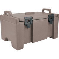 Cambro UPC100194 Granite Sand Camcarrier Ultra Pan Carrier with Handles - Top Load for 12 inch x 20 inch Food Pans