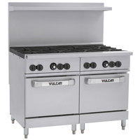 Vulcan 48SS-8BN Endurance Natural Gas 8 Burner 48 inch Range with 2 Standard Ovens - 286,000 BTU