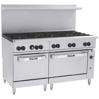 Vulcan 60SC-10BN Endurance Natural Gas 10 Burner 60 inch Range with 1 Standard and 1 Convection Oven - 358,000 BTU
