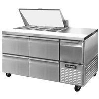 Continental Refrigerator CRA68-12M-D 68 inch 4 Drawer 1 Half Door Mighty Top Refrigerated Sandwich Prep Table