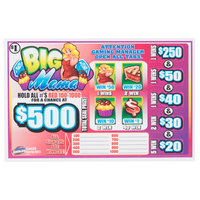 Big Mama 1 Window Pull Tab Tickets - 858 Tickets Per Deal - Total Payout: $650