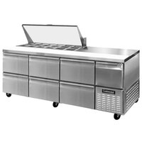 Continental Refrigerator CRA93-18M-D 93 inch 6 Drawer 1 Half Door Mighty Top Refrigerated Sandwich Prep Table