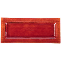 Arcoroc FG935 Tiger 13 3/4 inch x 6 inch Red Glass Rectangular Platter by Arc Cardinal - 16/Case