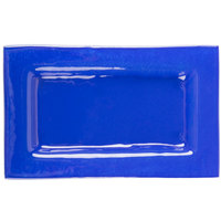 Cardinal Arcoroc FH009 Tiger 10 inch x 6 inch Blue Glass Rectangular Plate - 16/Case