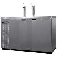Continental Refrigerator KC59-SS 59 inch Stainless Steel Front-Breathing Beer Dispenser - 3 Keg Capacity