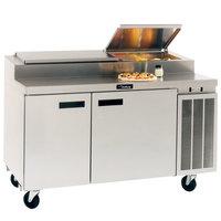 Delfield 18660PTBM 60 inch Two Door Refrigerated Pizza Prep Table