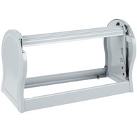 Bulman A527-12 Deluxe 12 inch Gray Steel All-In-One Wall Mount / Undercounter Paper Dispenser / Cutter with Serrated Blade