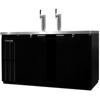 Continental Refrigerator KC69S Double Tap Kegerator Beer Dispenser, Shallow Depth - Black, (3) 1/2 Keg Capacity