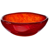 Arcoroc FG943 Tiger 16 oz. Red Glass Free Form Bowl by Arc Cardinal - 5/Case