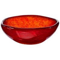Cardinal Arcoroc FG943 Tiger 16 oz. Red Glass Free Form Bowl - 5/Case