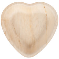 TreeVive by EcoChoice 6 1/2 inch Heart Palm Leaf Plate - 25/Pack