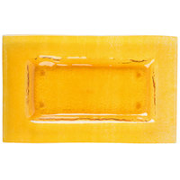 Arcoroc FG938 Tiger 10 inch x 6 inch Gold Glass Rectangular Plate by Arc Cardinal - 16/Case