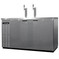 Continental Refrigerator KC69-SS 69 inch Stainless Steel Front-Breathing Beer Dispenser - 3 Keg Capacity