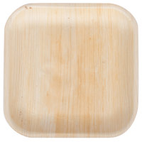 TreeVive by EcoChoice 7 inch Square Palm Leaf Plate - 25/Pack