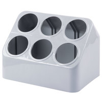 Vollrath 52644 Gray Plastic 6-Cylinder Flatware Organizer