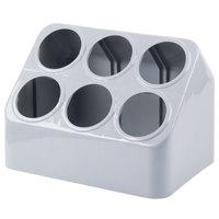 Vollrath 52644 Six Hole Plastic Silverware Cylinder Holder