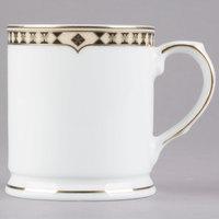 Syracuse China 911191013 Baroque 9.75 oz. Bone China Coffee Mug - 12/Case