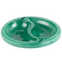 HS Inc. HS1070 Chile Doble 9 oz. Green Divided Plastic Bowl - 24/Case