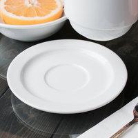 Syracuse China 911194017 Reflections 5 7/8 inch Aluma White Porcelain Tea Saucer - 36/Case