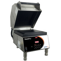 Nemco 6900-GF PaniniPro 14 1/2 inch Single High-Speed Panini Press with Grooved Top and Flat Bottom Plates - 240V