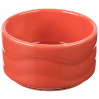 Syracuse China 903034600 Cantina 2 oz. Cayenne Carved Stacking Porcelain Bowl - 24/Case