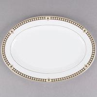 Syracuse China 911191007 Baroque 14 3/8 inch Bone China Oval Platter - 12/Case