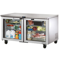 True TUC-60G~SPEC1 60 inch Spec Series Undercounter Refrigerator with Glass Doors