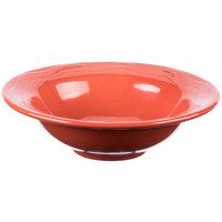 Syracuse China 903034019 Cantina 12 oz. Cayenne Carved Porcelain Grapefruit Dish - 12/Case