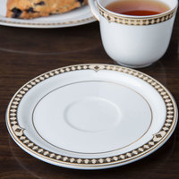 Syracuse China 911191031 Baroque 6 1/8 inch Bone China Stackable Saucer - 36/Case