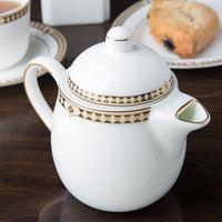 Syracuse China 911191040 Baroque 15 oz. Bone China Tea Pot with Lid - 12/Case