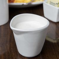 Syracuse China 911194503 Reflections 6 oz. Aluma White Porcelain Creamer - 24/Case