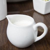 Syracuse China 911194034 Reflections 5.5 oz. Aluma White Porcelain Creamer - 24/Case