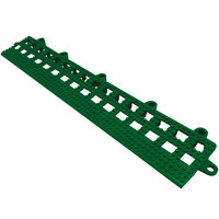 Cactus Mat 2554-HGB Dri-Dek 2 inch x 12 inch Hunter Green Vinyl Interlocking Beveled Edge Drainage Floor Tile - 9/16 inch Thick