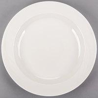 Syracuse China 950038443 Cascade 25 oz. Ivory (American White) Round Medium Rim Flint Porcelain Entree / Pasta Bowl - 12/Case