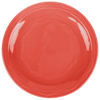 Syracuse China 903034010 Cantina 9 inch Cayenne Carved Porcelain Round Plate - 12/Case