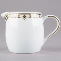 Syracuse China 911191009 Baroque 9 oz. Bone China Creamer - 12/Case