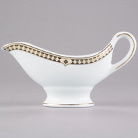 Syracuse China 911191034 Baroque 6 oz. Bone China Sauce Boat - 12/Case