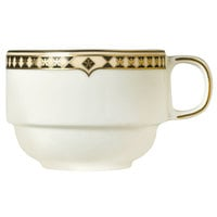 Syracuse China 911191032 Baroque 8.5 oz. Bone China Stackable Cup - 36/Case